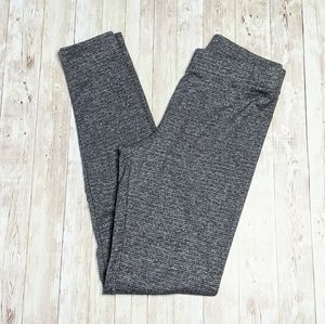 LC Lauren Conrad Small Marled Gray Knit Leggings